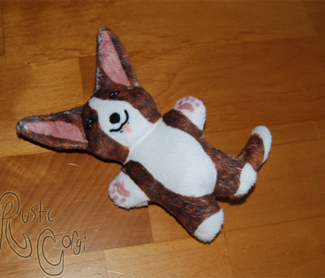Kawaii Corgi mini plushie - brindle