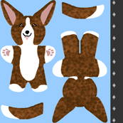Kawaii Corgi mini plushie - brindle