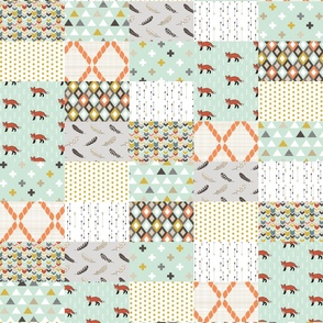 Tribal Fox Cheater Quilt