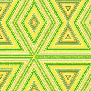 Yellow and Green Tribal Pattern