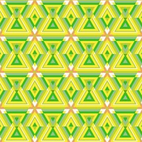 Daffodil Yellow and Green Triangles