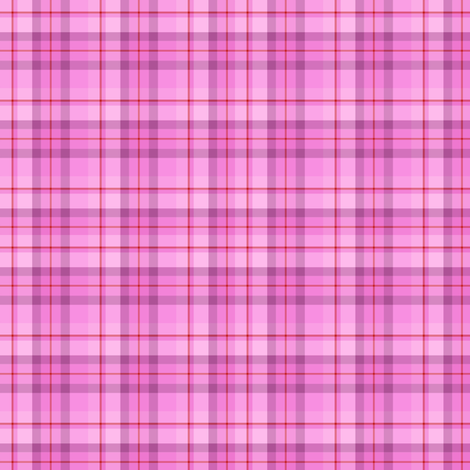 Pink Red Plaid (SMALL) fabric by kiniart on Spoonflower - custom fabric