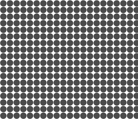 dots dark grey fabric by misstiina on Spoonflower - custom fabric