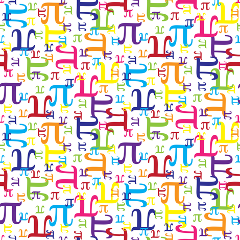 Pieces of Pi (Small) fabric by robyriker on Spoonflower - custom fabric