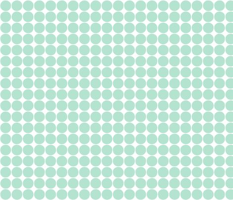 dots mint green fabric by misstiina on Spoonflower - custom fabric