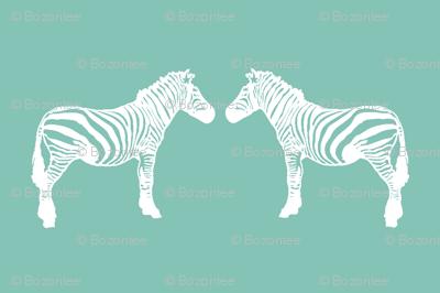 teal zebras