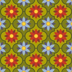 autumn flower tiles