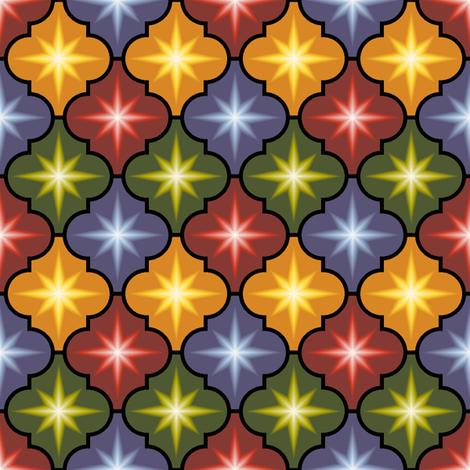 c-rhombus star - dark autumn fabric by sef on Spoonflower - custom fabric
