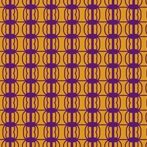 Beads Purple Gold