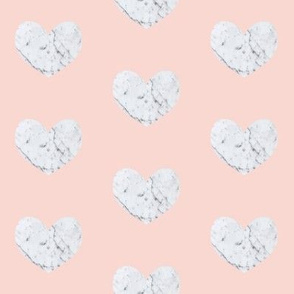 marble heart on peach