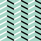 white black chevron on mint