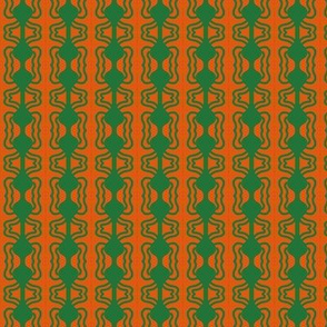Barbell Beads Green Orange 1