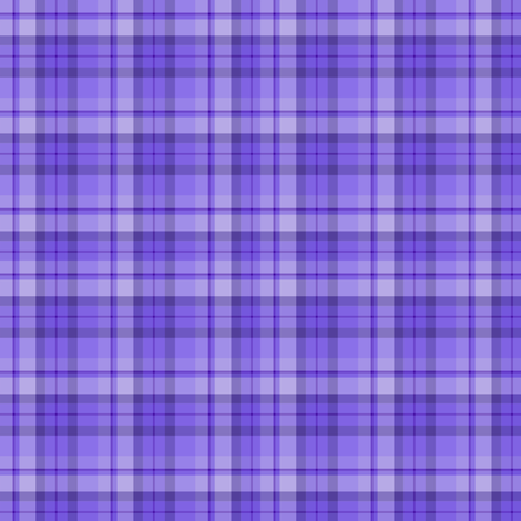 Blueberry Purple Plaid  fabric by kiniart on Spoonflower - custom fabric