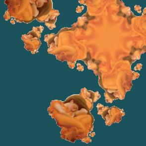 Flaming June Macro-Fractal Deep Sea