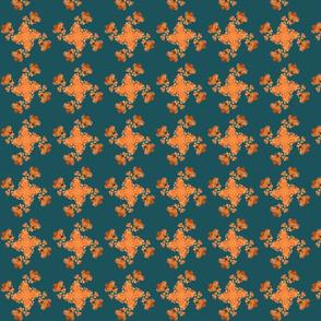 Flaming June Micro-Fractal Deep Sea