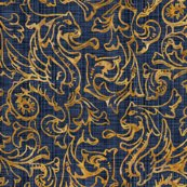 Rrhere_there_be_dragons___gilt_gold_on_denim_linen___peacoquette_designs___copyright_2015_shop_thumb