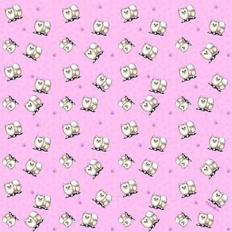 TINY Mini Pom Girls (SMALLEST) fabric by kiniart on Spoonflower - custom fabric