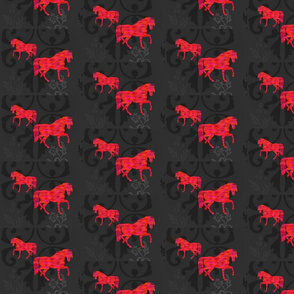 Red on Black Horses