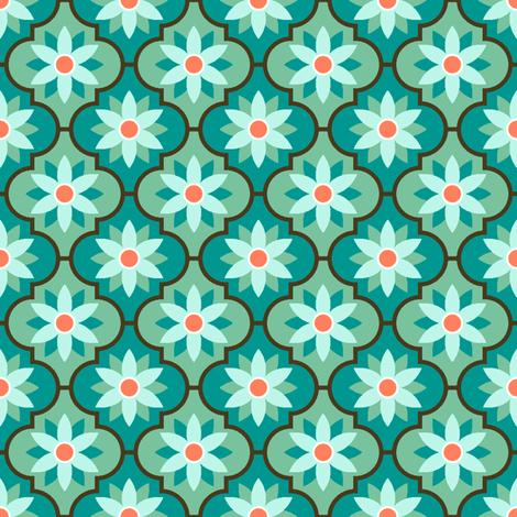 c-rhombus flower 2 - surf fabric by sef on Spoonflower - custom fabric