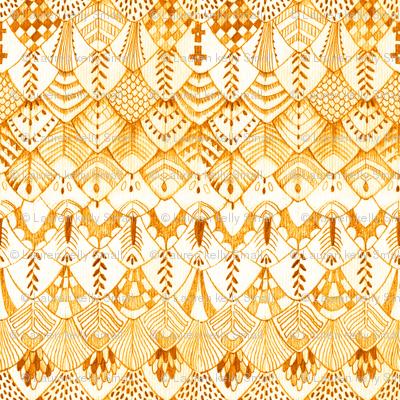 Owl Feather Desert Orange