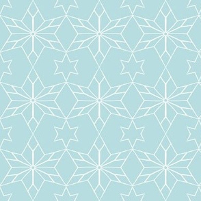 Rustic Star on Soft Blue