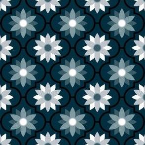 c-rhombus flower 2 - noir