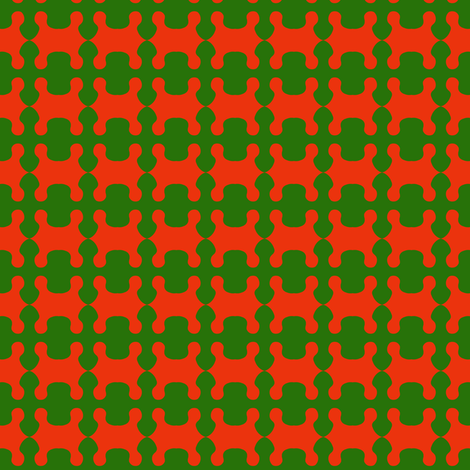 Tangerine Green Fields  fabric by eve_catt_art on Spoonflower - custom fabric