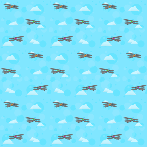Old Fashioned Airplanes  fabric by jayhutch on Spoonflower - custom fabric