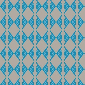 Diamonds Blue Grey 1