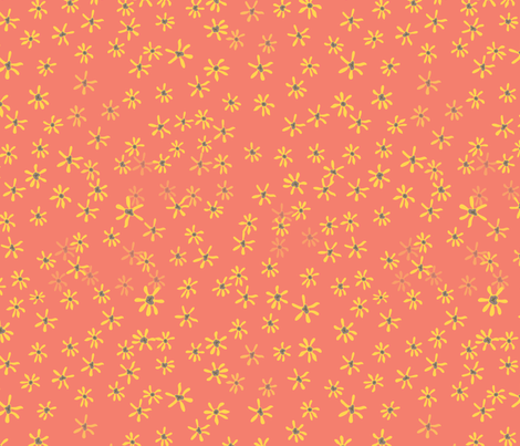 pretty_little_yellow_flowers fabric by megancarroll on Spoonflower - custom fabric