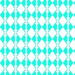 Diamonds Aqua White 2