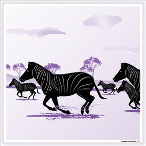 Zeal of Zebras Pillow