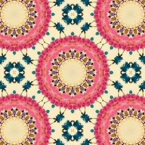 Pink flower circles