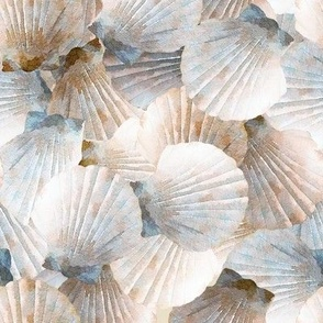 Tan Scallop Shells