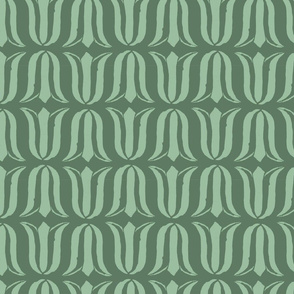 Block Print Blossoms Tulips in Sunflower