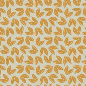 Block Print Blossom Leaves in Sunflower