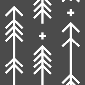 cross plus arrows dark grey
