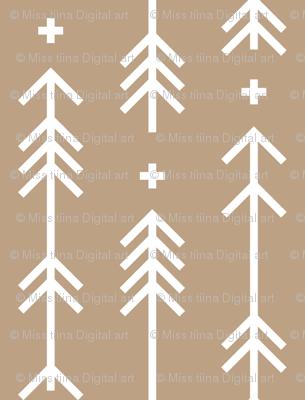 cross plus arrows tan