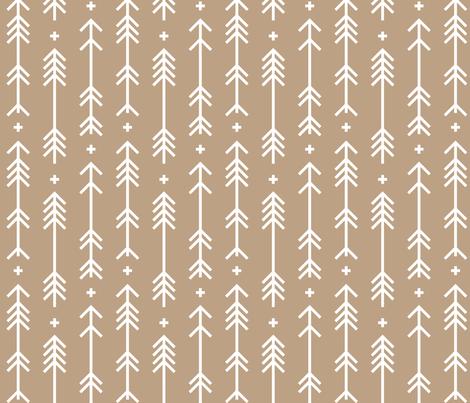 cross plus arrows tan fabric by misstiina on Spoonflower - custom fabric