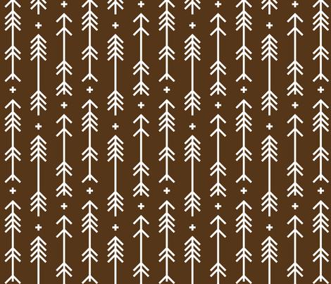 cross plus arrows brown fabric by misstiina on Spoonflower - custom fabric