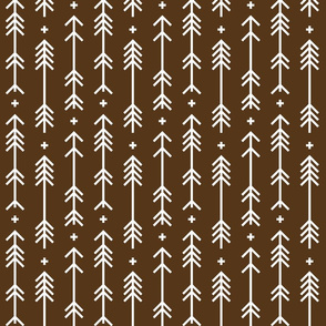 cross plus arrows brown