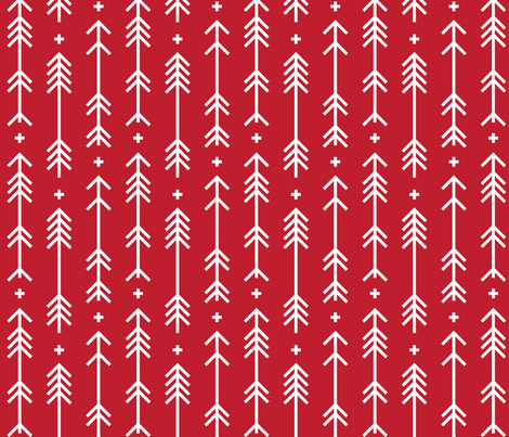 cross plus arrows red fabric by misstiina on Spoonflower - custom fabric