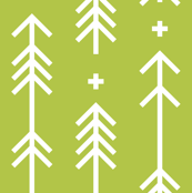 cross plus arrows lime green