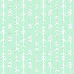 cross plus arrows ice mint green