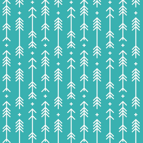 cross plus arrows teal