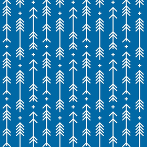 cross plus arrows royal blue