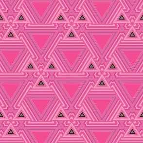 Pink Art Deco Triangles Geometric