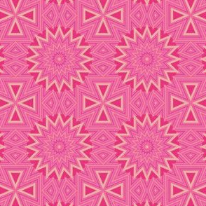 Pink and Gold Kaleidoscope