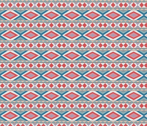 South West Diamond band fabric by colour_angel_by_kv on Spoonflower - custom fabric