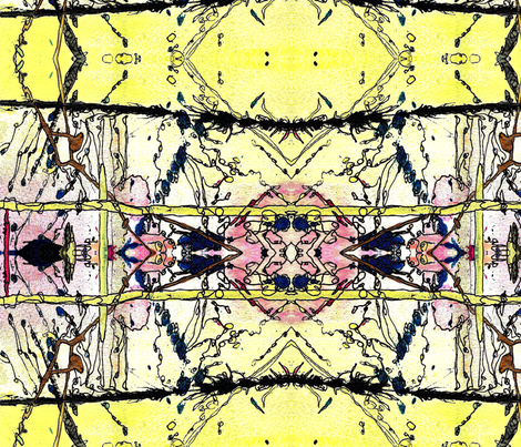 Yellow Crown fabric by abstractionsbyronda on Spoonflower - custom fabric